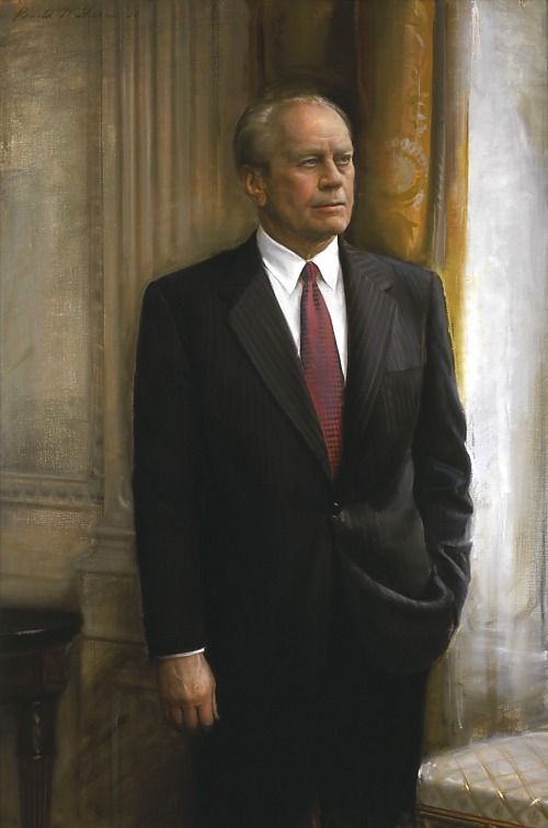 Gerald R. Ford, POTUS (1974-1977). Ford subsequently pardoned Nixon for any crime(s) committed while in office.