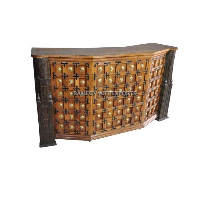 Indian Teak Wood Bar Counter | Indian Teak Bar Counter | Wooden Bar Counter | Rustic Indian Teak Wood Bar Counter | Royal Indian Teak Wood Bar Counter