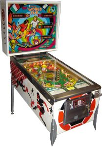 World Cup is a classic Solid State pinball with Soccer scoring action. Description from gameroomwarehouse.com. I searched for this on bing.com/images
