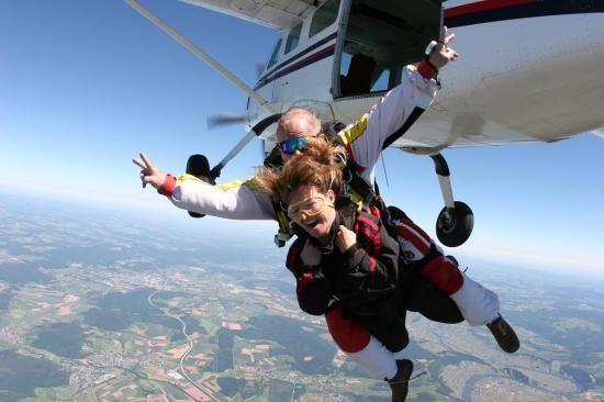 Saut en tandem parachute - saut parachute duo #sautenparchute #parachute