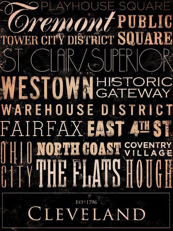 Cleveland+Ohio+neighborhoods+typography+graphic+by+geministudio,+$59.00