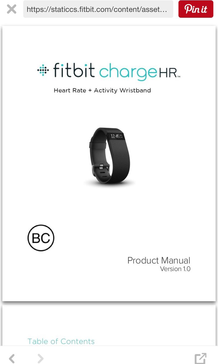 Link to Fitbit Charge HR Owner's Manual:    https://staticcs.fitbit.com/content/assets/help/manuals/manual_charge_hr_en_US.pdf