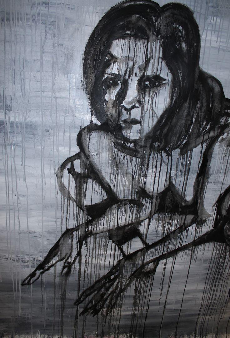 Monstrum, 2013. Mixed media on canvas.