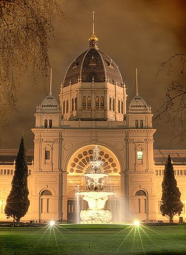 UNESCO World Heritage Site.                       Royal Exhibition Building, Melbourne, AUSTRALIA