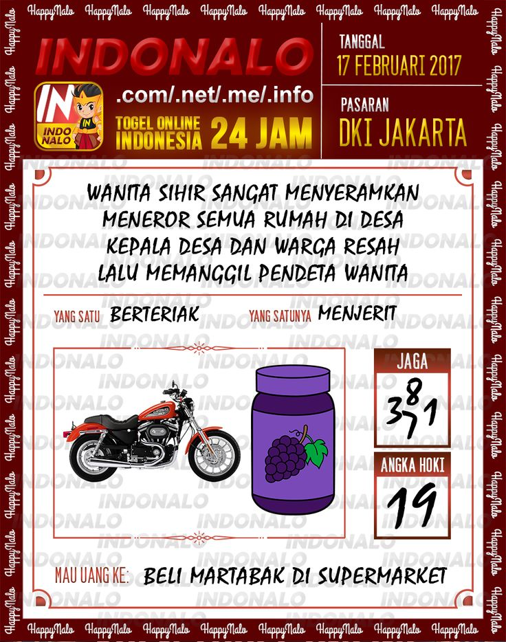 Angka Taysen 6D Togel Wap Online Live Draw 4D Indonalo DKI Jakarta 17 Februari 2017