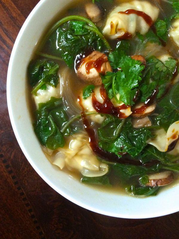 5-Minute Wonton Soup | thelemonbowl.com #soup