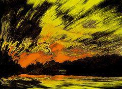 Featured Art - Going Home Sun Set   by Sarah  King