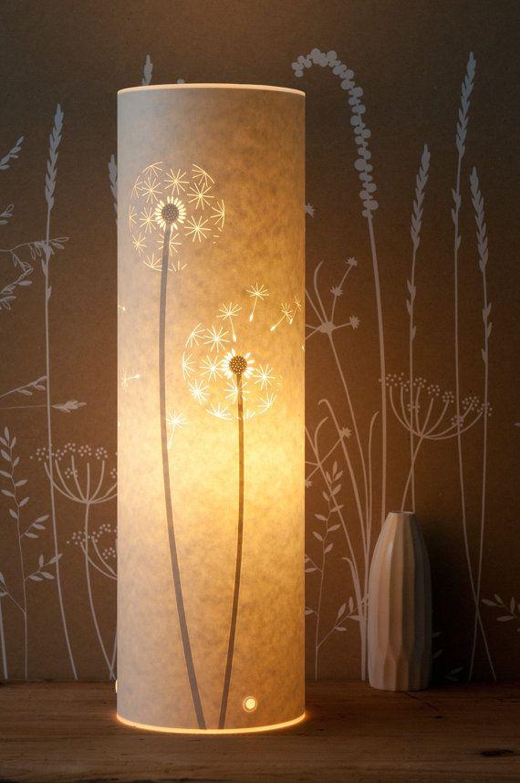 Tall Dandelion Clocks Table Lamp by Hannahnunn on Etsy