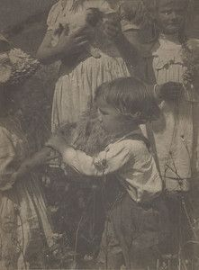 """""""Happy Days,"""" 1903, Gertrude Kasebier. University of Delaware Collection, gift of Mason E. Turner Jr, 1978. Featured in March 2013 article, """"Gertrude Kasebier: Two Exhibitions In Delaware."""""""