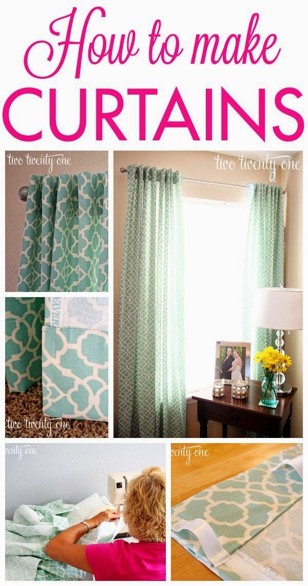 Best DIY Projects : GREAT tutorial on how to make curtains!