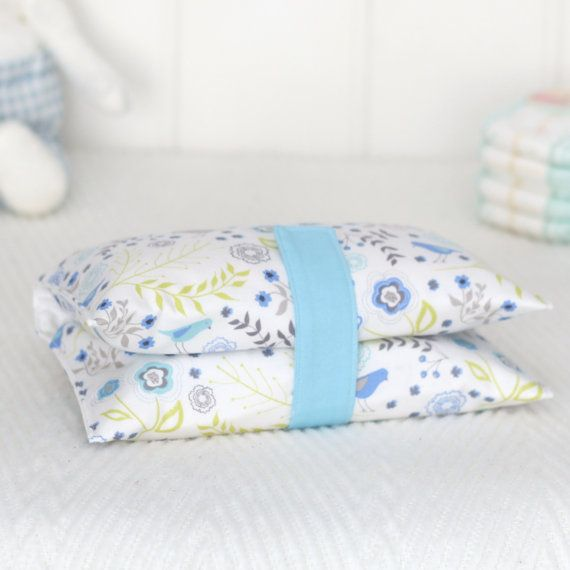 Nappy Wallet  White and Blue Floral by VickiElle01 on Etsy