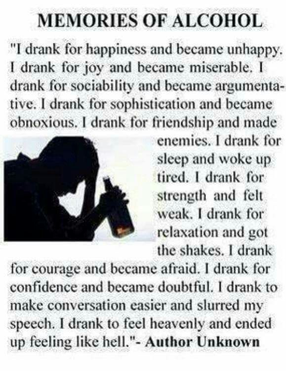 Alcoholic Quotes Glamorous 112 Best Say No To Alcohol Imagessaeeda Adil On Pinterest . 2017