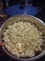 Enameled cast iron dutch oven popcorn recipe! No carcinogens!