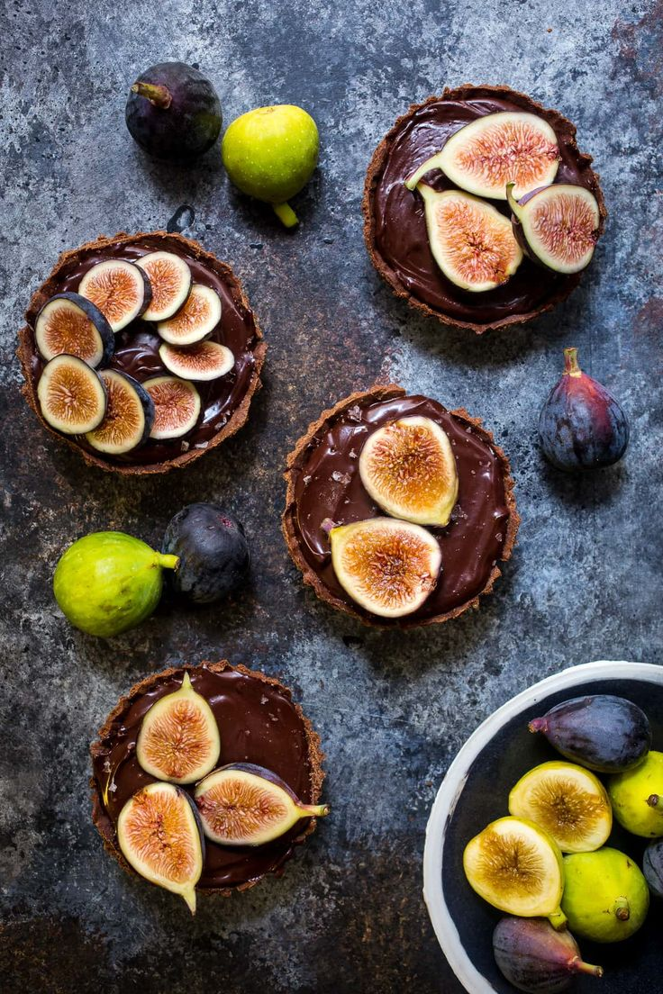Chocolate Caramel Fig Tart from The Girl In the Little Red Kitchen