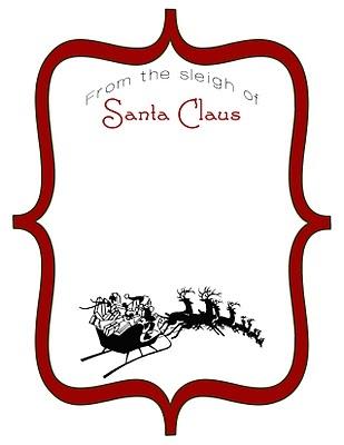 Cute idea for a Christmas gift tag.  Santa Claus tag.