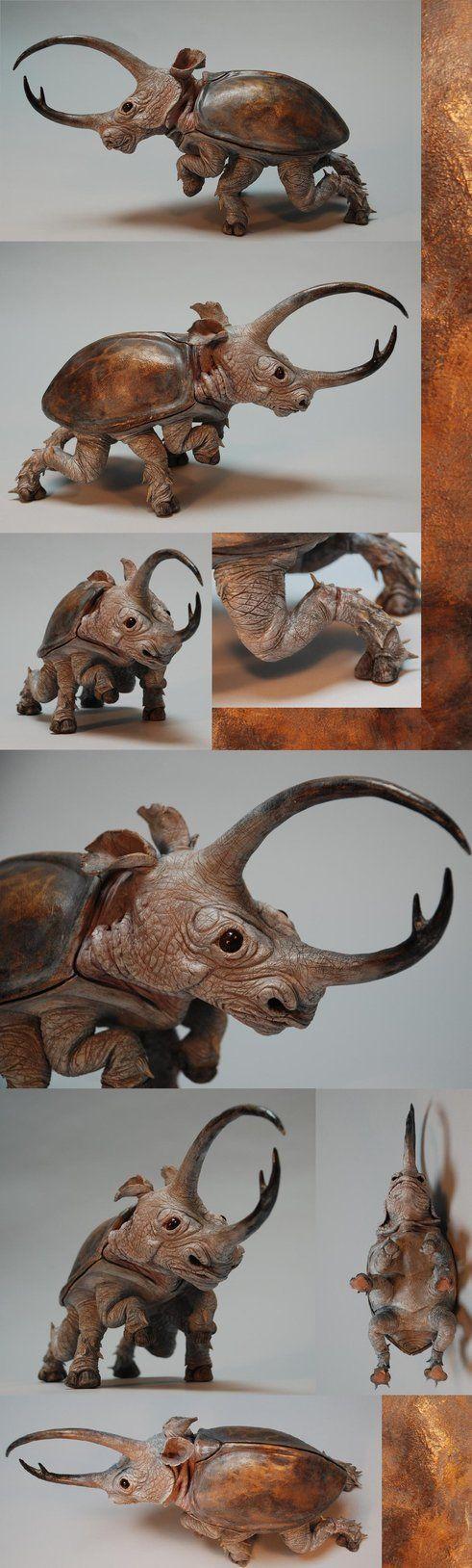 Rhinoceros Beetle - Finished by ~Malicious-Monkey on deviantART