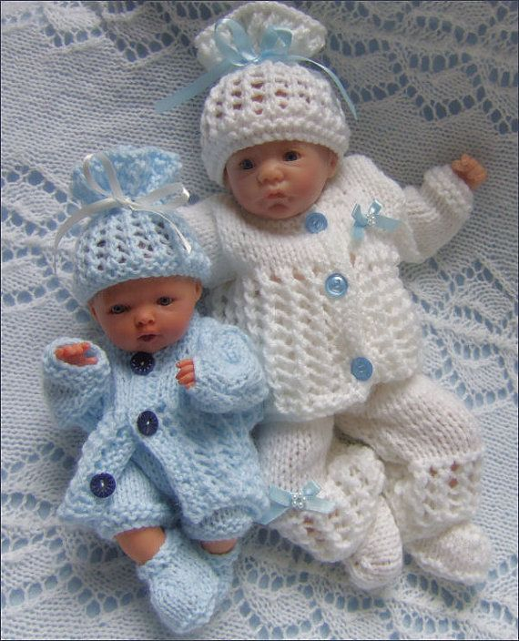 Dolls Knitting Pattern - Download PDF Pattern Reborn Dolls - Dolls Clothes for…