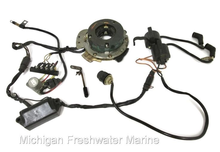 Johnson Evinrude Outboard r Electric Start Ignition Electrical Assembly #Ignition #Coils #Stator #CDI #VoltageRectifier #581651 #581927 #581999 #OMC #Johnson #Evinrude #Outboard #MichiganFreshwaterMarine