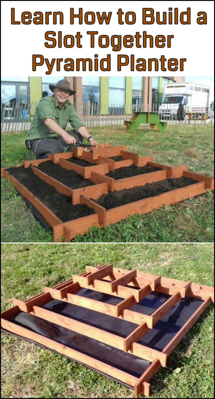 Grow your own produce by building a slot together pyramid! See the step-by-step tutorial here...