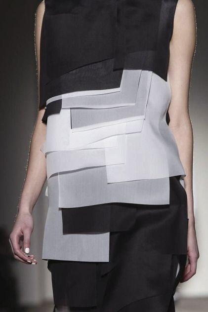 Black & white colour block layers - simple lines; fashion details // Gabriele Colangelo
