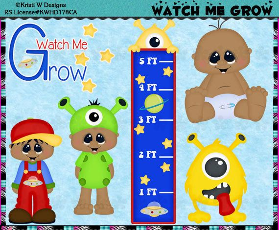 Watch Me Grow Baby Growth Chart Boy AA  Instant by CapZone on Etsy