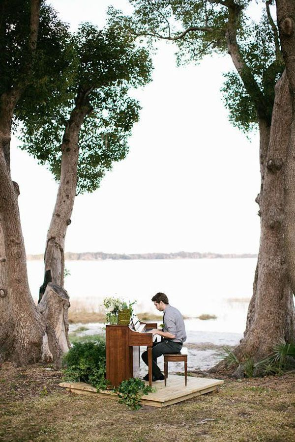 Entertainment - outdoor piano for the ceremony and cocktail hour?