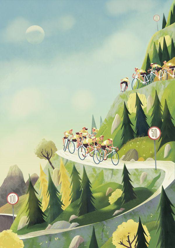 - Cycling Downhill by Steve Scott, via Behance