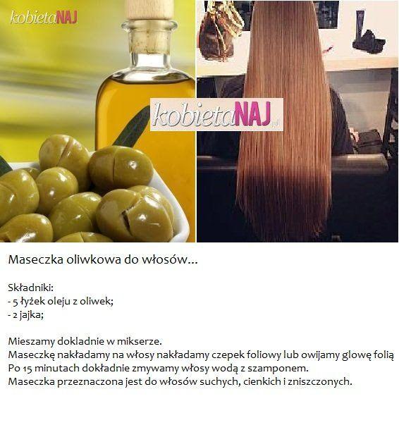 Przepis na oliwkową maseczkę do włosów....