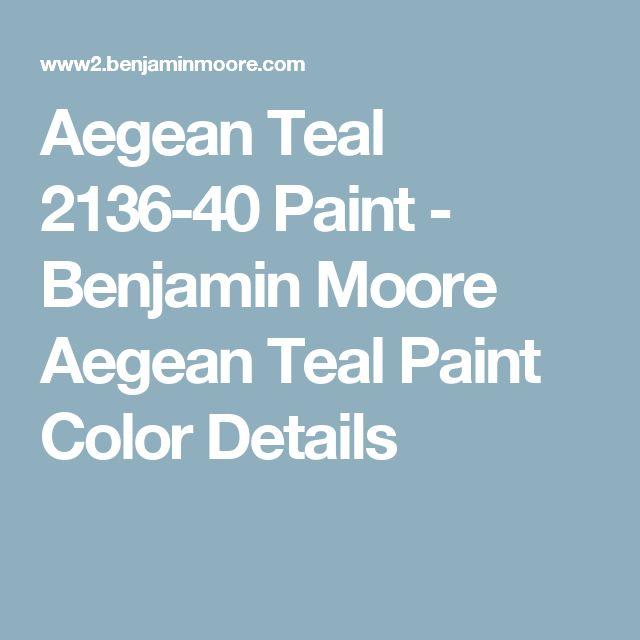 Aegean Teal 2136-40 Paint - Benjamin Moore Aegean Teal Paint Color Details