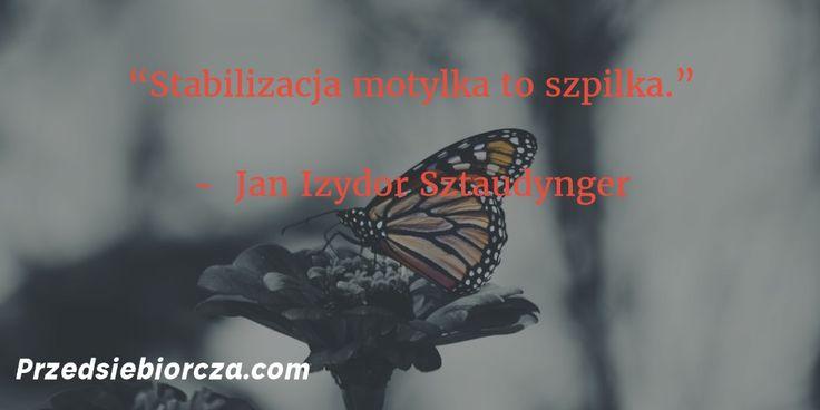 Stabilizacja motylka to szpilka.