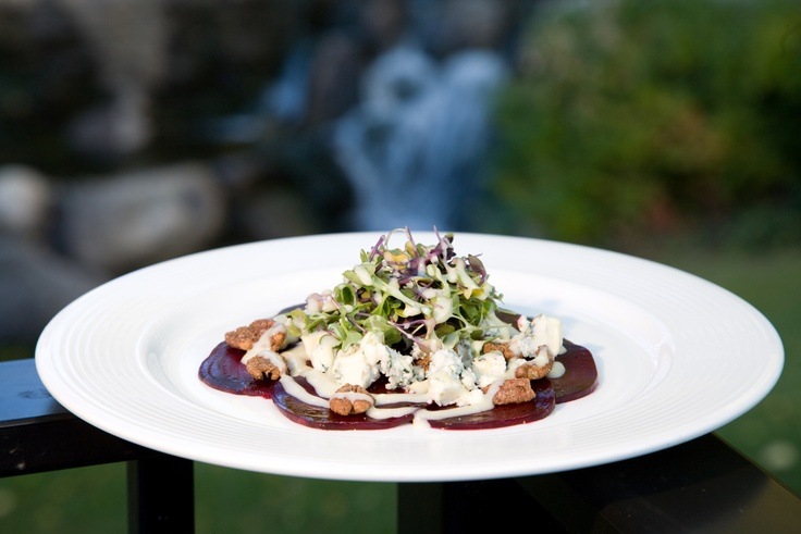 Unique plates are made from only the freshest products available at Vista at Arrowhead. Gluten free, Beet Carpaccio. Vail Restaurants