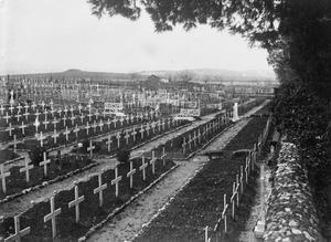WWI, Jan 1917, Salonika; Briitish military cemetery. ©IWM