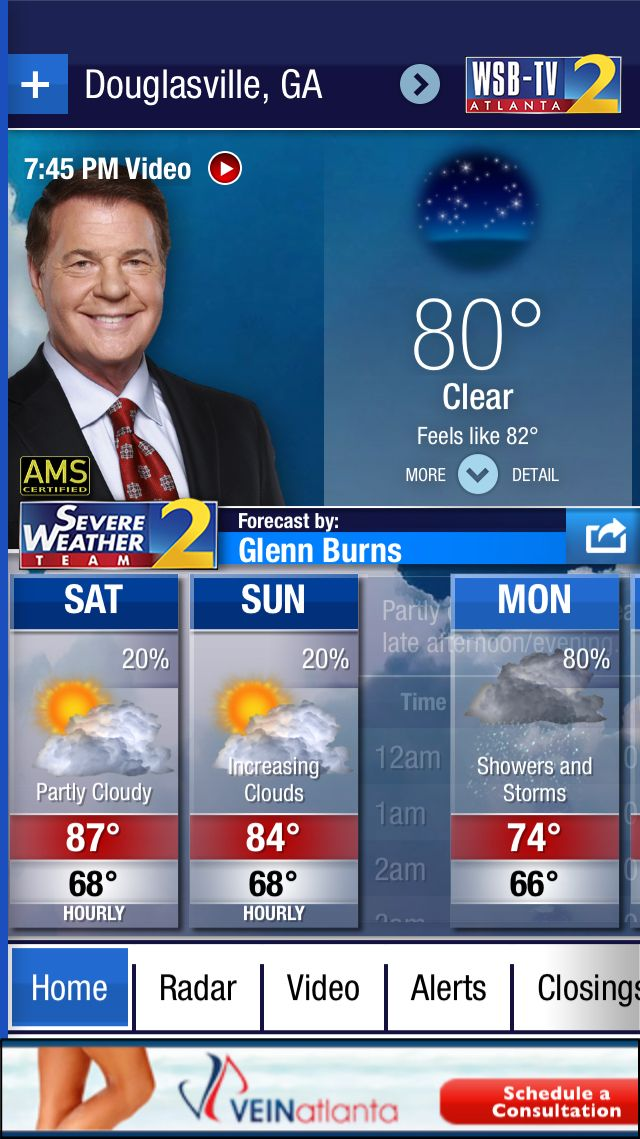 Forecast for Douglasville, GA from the @WSBTV Channel 2 Weather App. Download at http://wsbtvweatherapp.com.