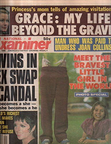 National Examiner 1984 Oct 09 Princess Grace,Liza Minelli,Bravest Little Girl,