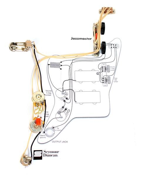920d custom jmh vintage wiring harness for vintage jazzmaster infender vintage traditional jazzmaster guitar pre wired wiring harness