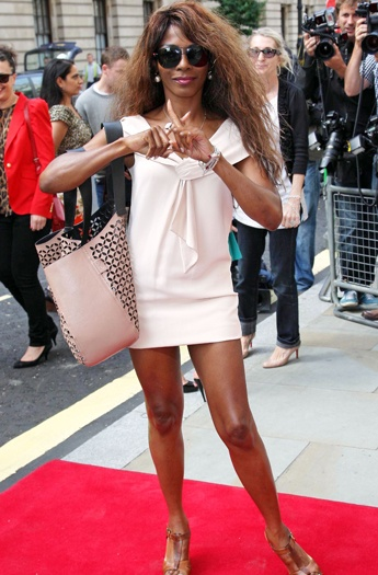 'So Macho' Singer And Mentor Sinitta Shows She Has The X-Factor At The Press Launch Yesterday Morning