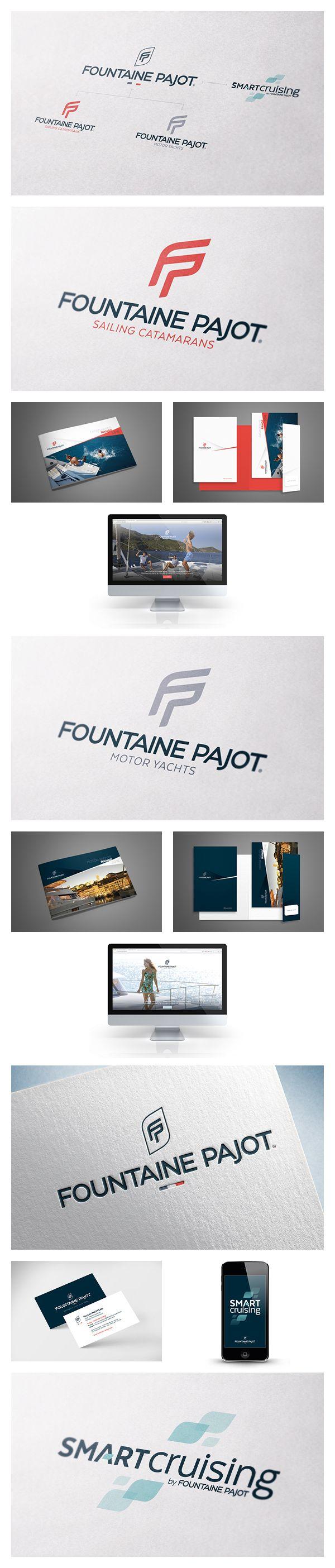 MOSWO | le privé | Fountain Pajot | identité | logotype | signature | identité visuelle | nautisme | catamaran | Motor Yachts | Corporate