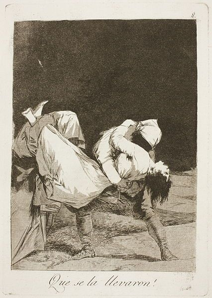 Francisco de Goya - So They Carried her Off (Etching and Aquatint, 1797-98)