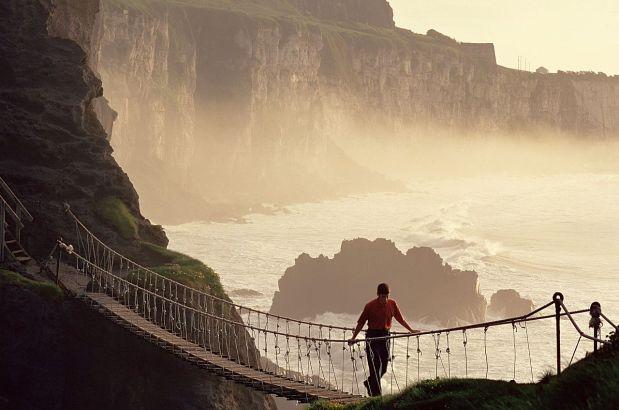 Carrick a Rede, sul ponte di corda