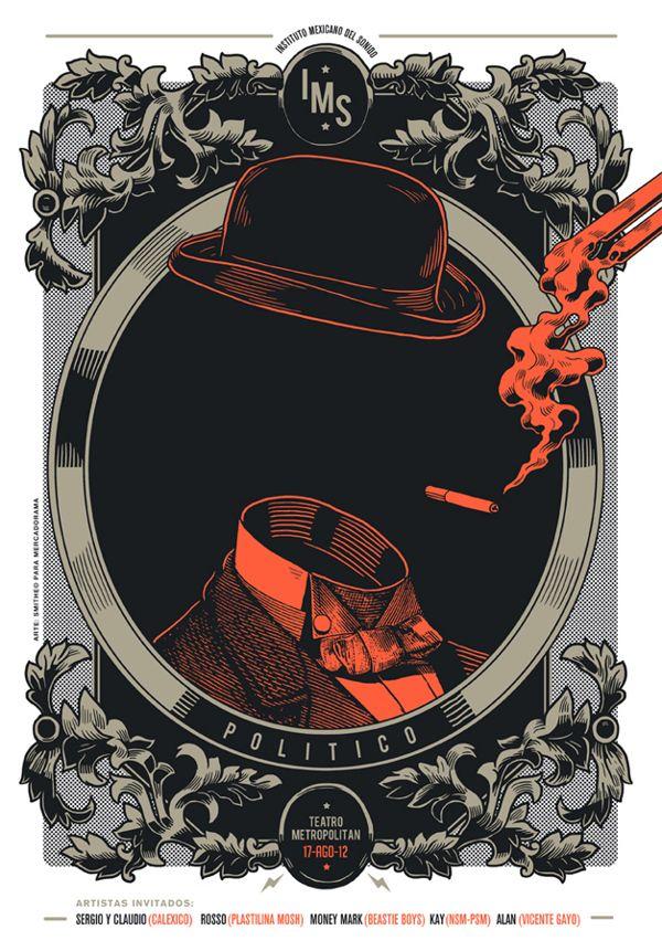 Gig Posters for Mercadorama 2012 by Smithe , via Behance