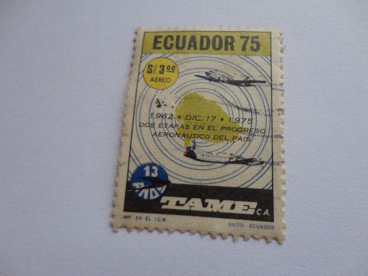S/.3.00 1962-1975 TAME Ecuador Postage Stamp