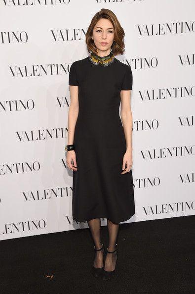 I'm seriously gonna make a dress like this. Sofia Coppola - Valentino Sala Bianca 945 Event in New York City.   (December 10, 2014)