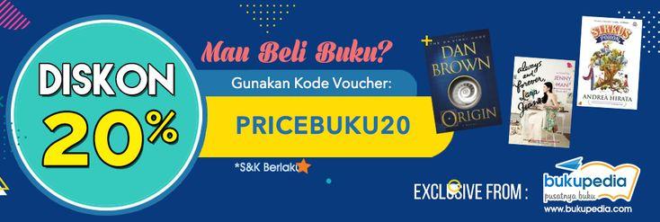Beli Buku Indonesia di Bukupedia Diskon 20%, Gunakan Kode Voucher 'PRICEBUKU20' Khusus User PriceArea.com - PriceArea.com