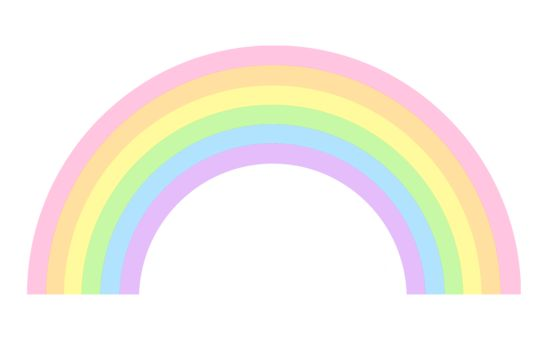 Cute Pastel Rainbow Clip Art | ♡ radiant rainbows ...