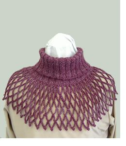 knit and crochet cowl! Lovely! The knit part can be easily crocheted with single crochet stitches taken from the back loop only!!! free!