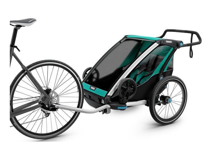 Thule Chariot Lite Trailer 2 Blue Grass 10203007 Au In 2019 Thule Bike Jogging Stroller Baby Strollers