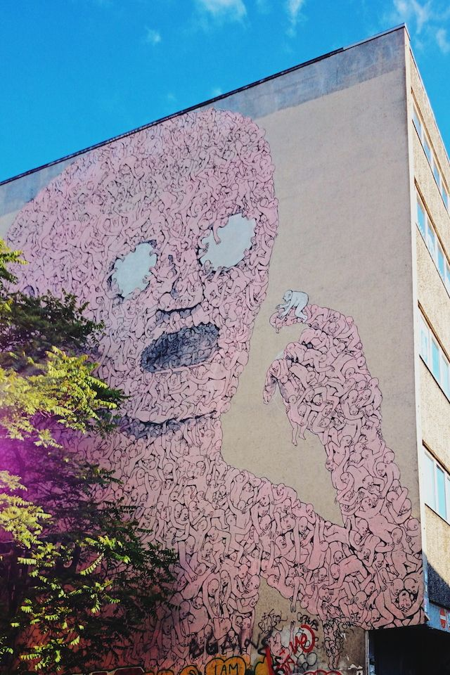 Best Renovation Images On Pinterest Urban Art Street Art - Building in berlin gets transformed by amazing 137 foot tall starling mural