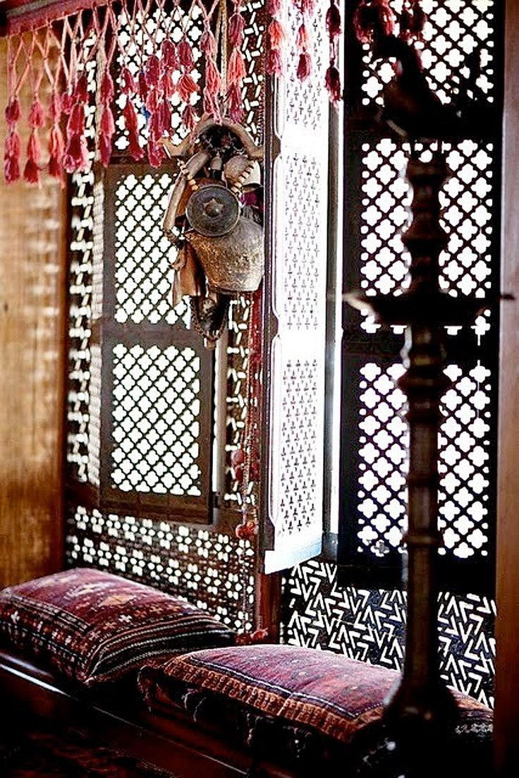 Morroco...Light filtered through hand carved wooden grillework. #Anthropologie #PinToWin