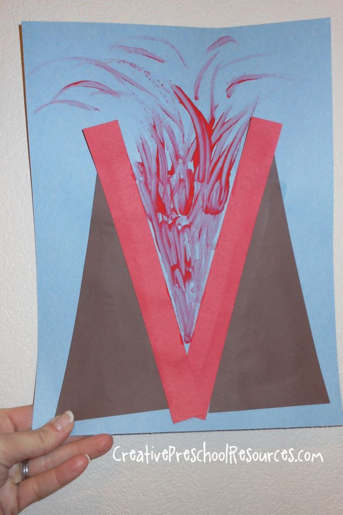 letter o crafts for preschool | ... letter Vv. For our letter shape study we made letter V into a volcano