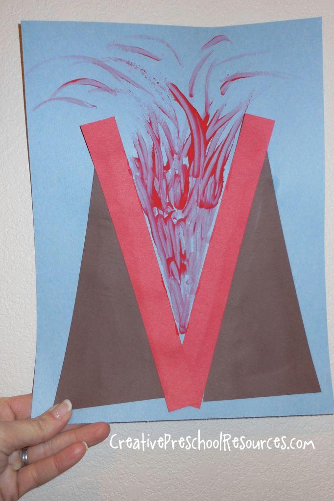 letter o crafts for preschool   ... letter Vv. For our letter shape study we made letter V into a volcano